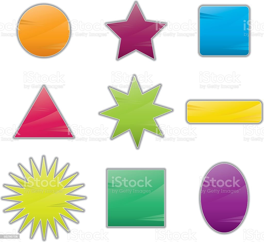Different shape icons royalty-free stock vector art