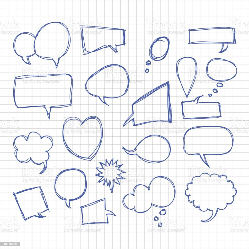 different shaped sketchy speech bubbles royalty-free different shaped sketchy speech bubbles stock vector art & more images of backgrounds