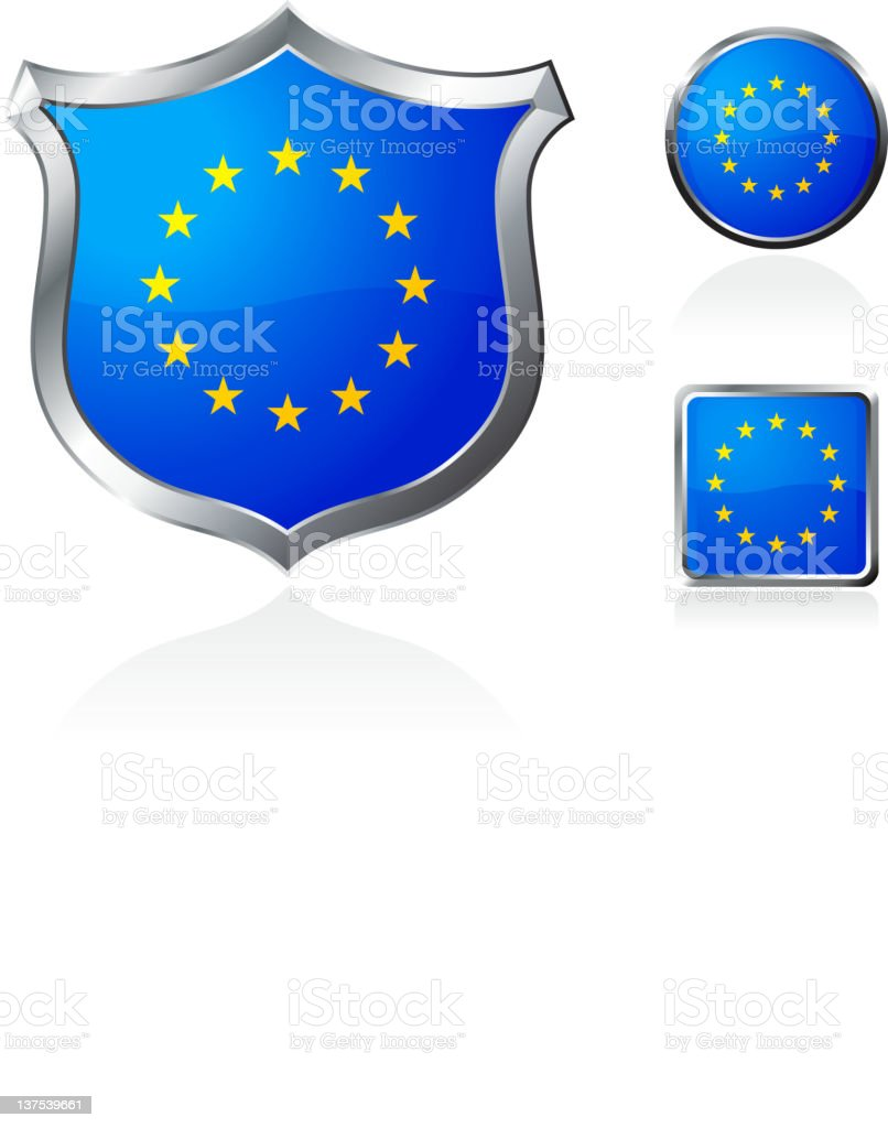 Different shapes for the European Union flag royalty-free stock vector art