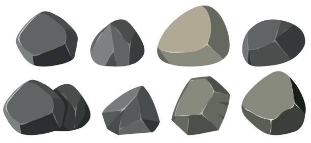 verschiedene formen der felsen - steinpfade stock-grafiken, -clipart, -cartoons und -symbole