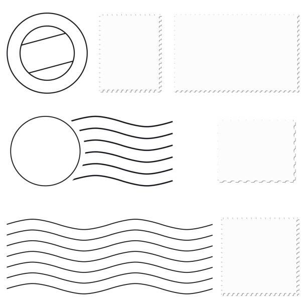 different stamps + postmark different stamps + postmark postmark stock illustrations