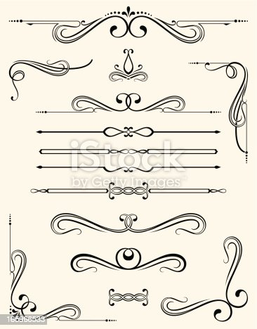 An a Vector Illustration of Decorative Elements