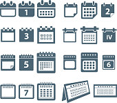 Different styles of calendar