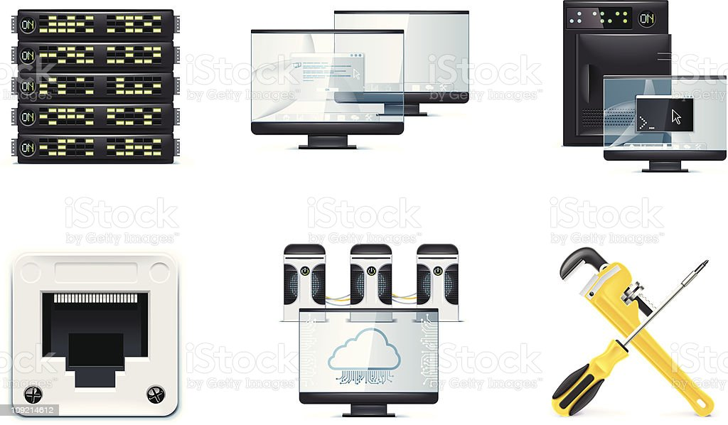 Different technology gadgets in an royalty-free stock vector art