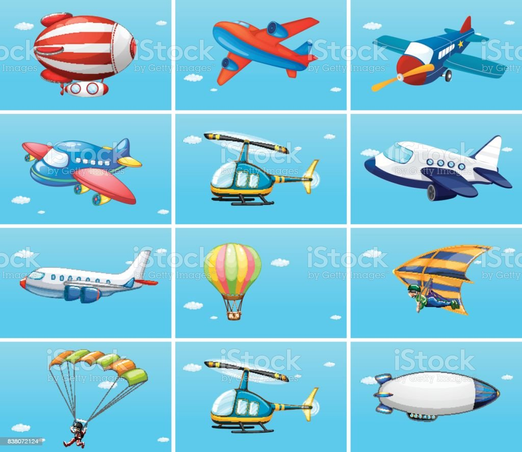different types of aircrafts stock vector art 838072124 istock