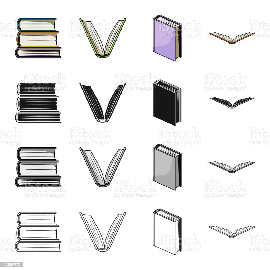 Different Types Of Books Literature Textbook Dictionary Book Set