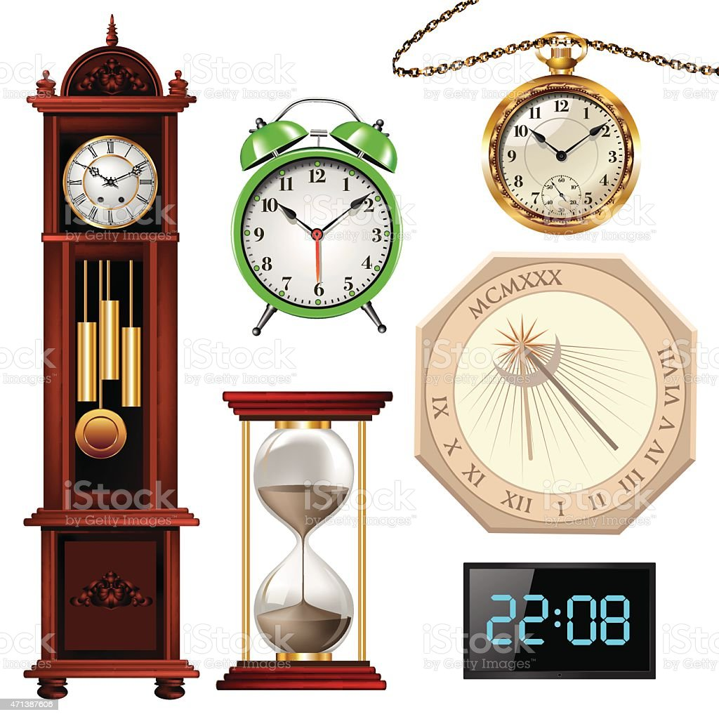 Different types of clocks stock vector art 471387606 istock different types of clocks royalty free stock vector art amipublicfo Choice Image