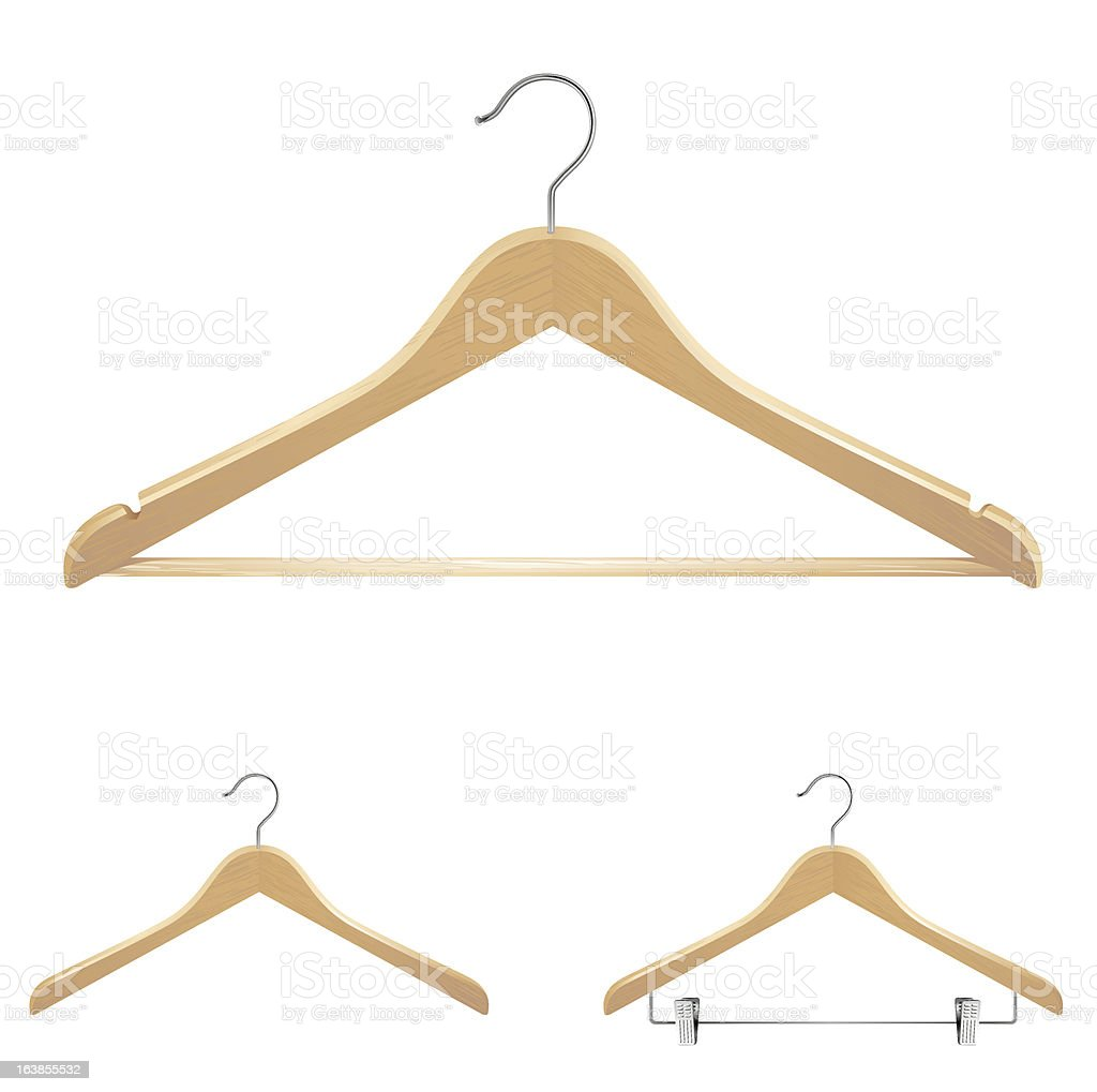Different types of clothes hangers royalty-free stock vector art