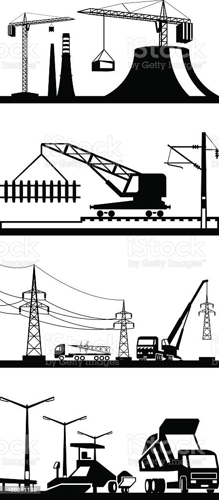 royalty free electrical wiring construction clip art, vector  qualified electricians job concept 4