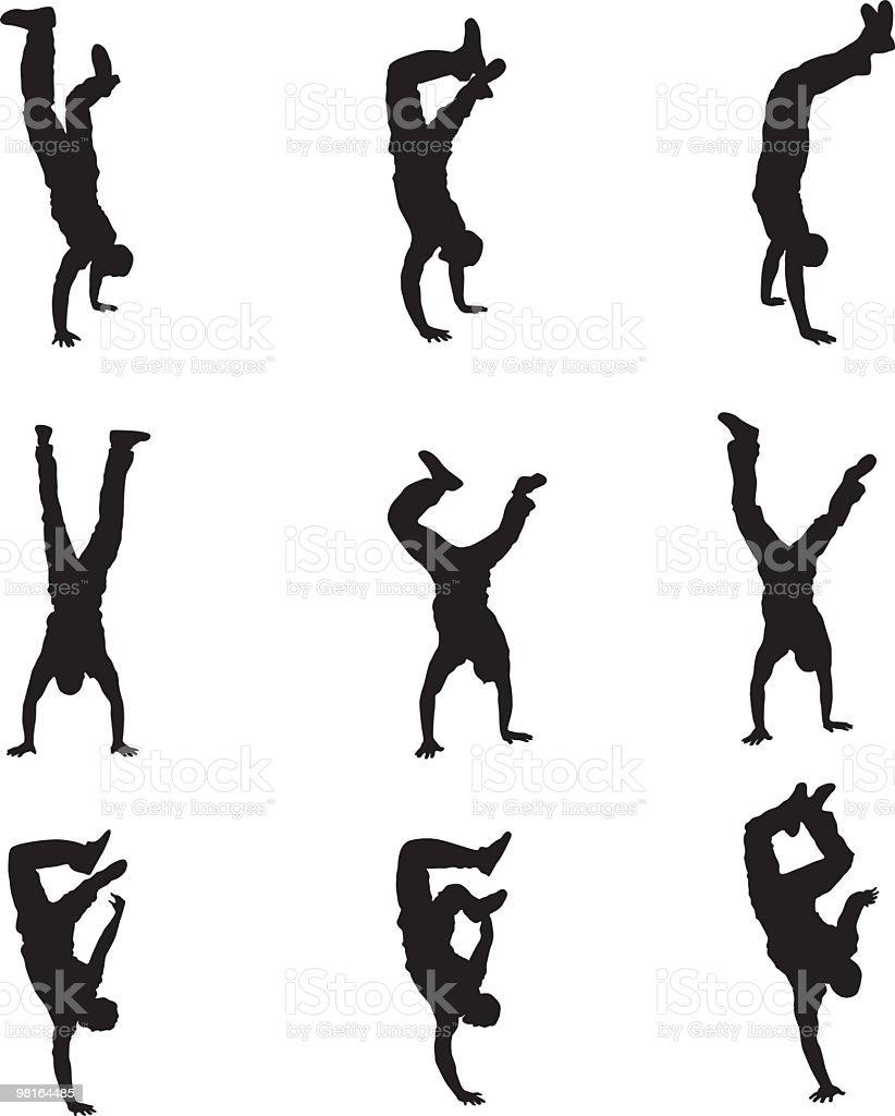 다른 유형의 handstands royalty-free 다른 유형의 handstands organized group에 대한 스톡 벡터 아트 및 기타 이미지