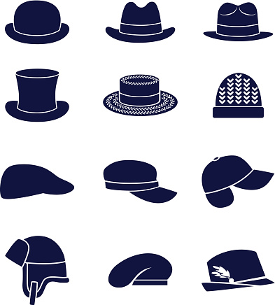 Different Types Of Men Hats Stock Illustration Download Image Now Istock