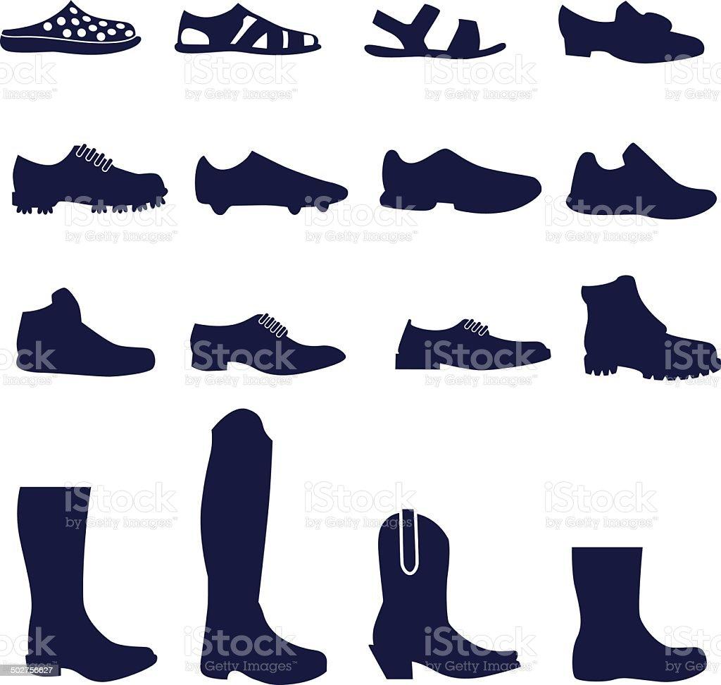 De Homme Et Types Chaussures Vecteurs Libres Droits Différents m8nv0wON