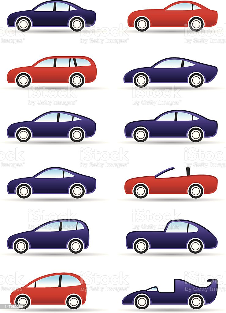 Different types of modern cars royalty-free stock vector art