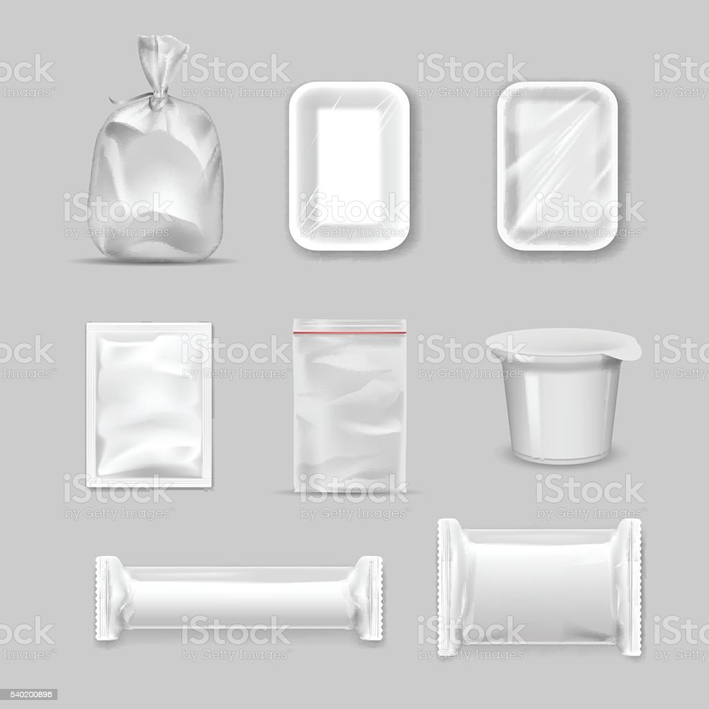 Different types of packaging vector art illustration