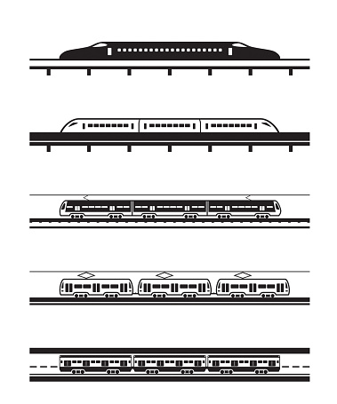 Different types of passenger trains
