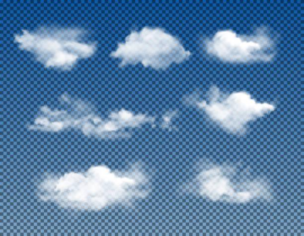 현실적인 구름의 종류 - 구름 stock illustrations