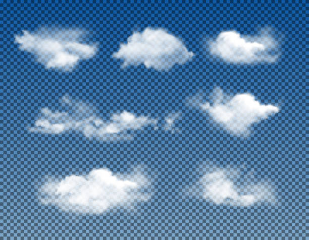 different types of realistic clouds - chmura stock illustrations
