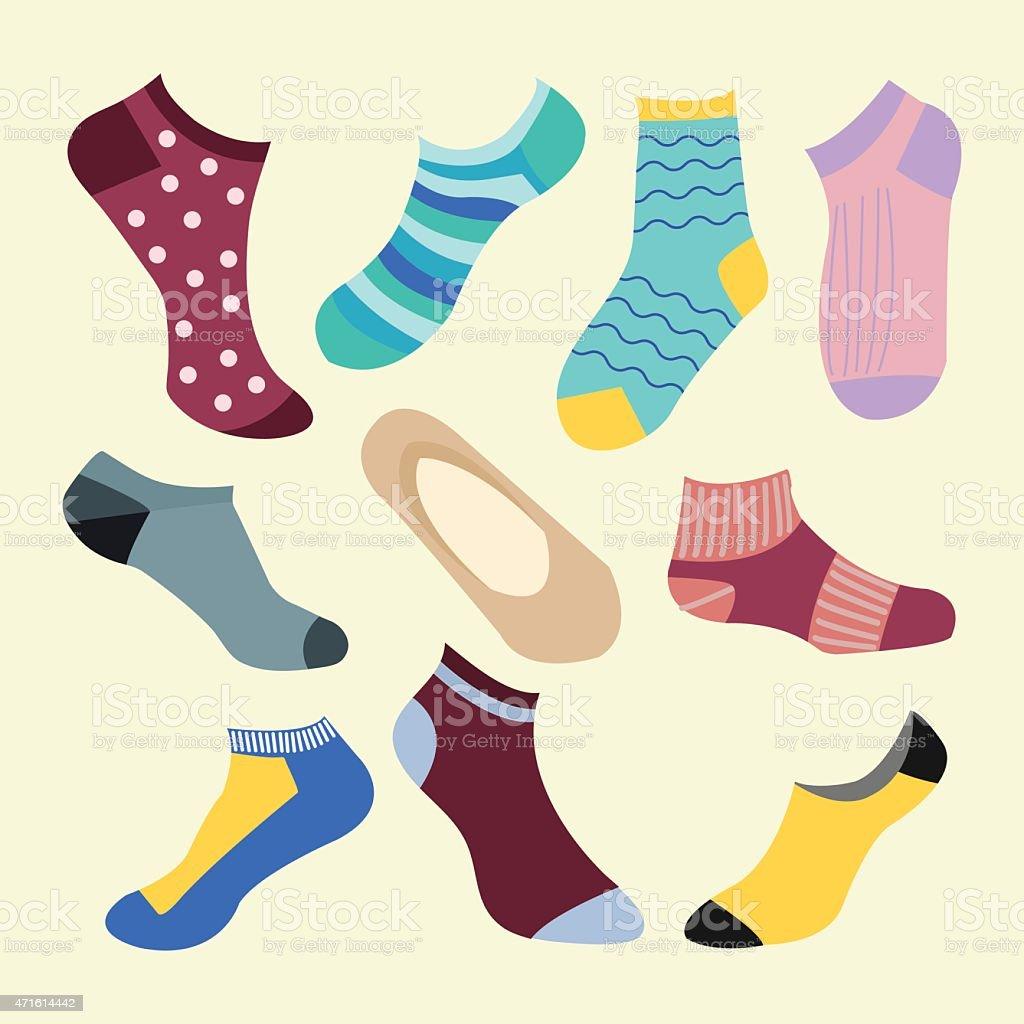 Ilustración de Diferentes Tipos De Socks Medio y más banco de ...