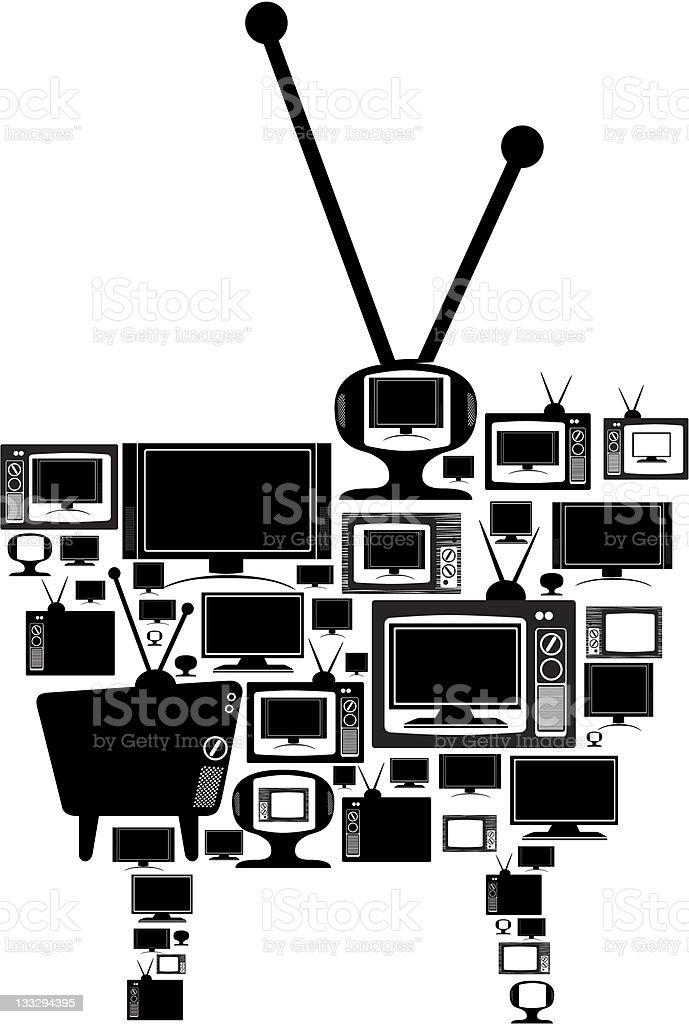 different types of television sets royalty-free stock vector art