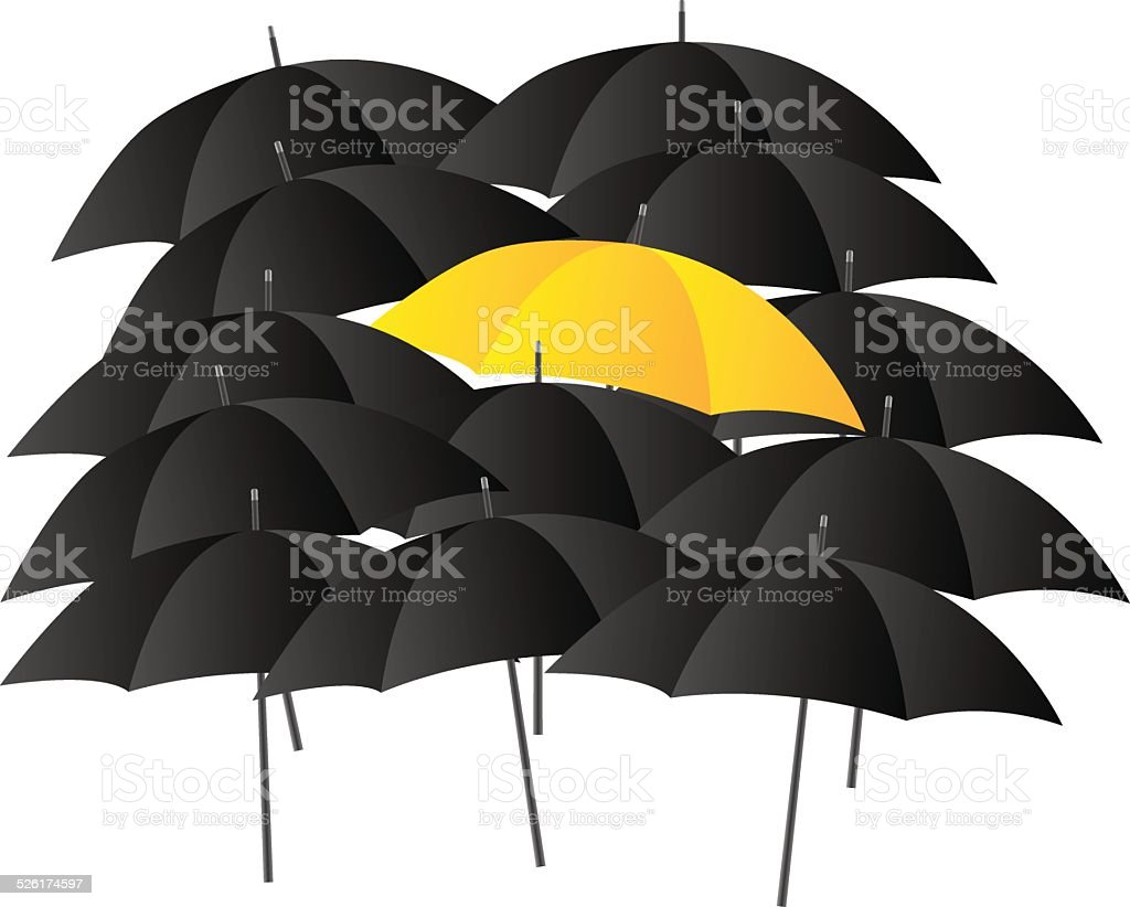 Different Umbrella vector art illustration