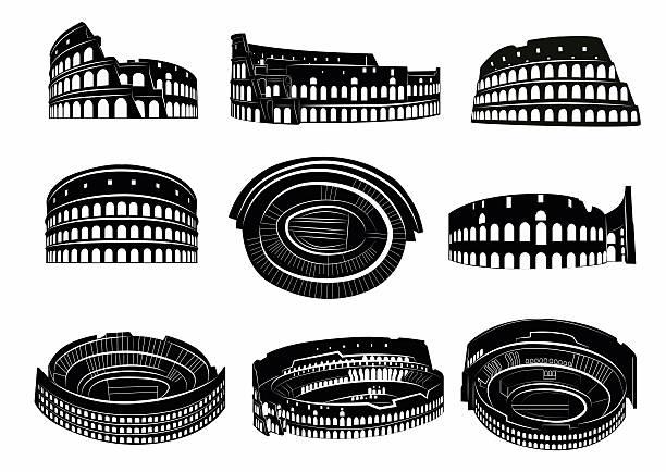 illustrations, cliparts, dessins animés et icônes de autre vue du colisée romain - rome