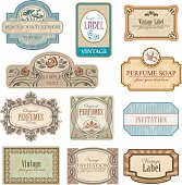 Different vintage art nouveau lables.