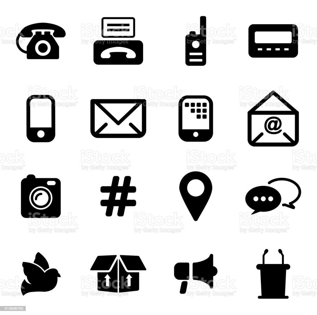 Verschiedene Arten Der Kommunikation Symbole Stock Vektor Art Und