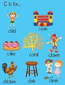Different words for letter C