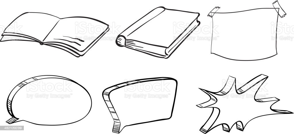 Different writing materials royalty-free stock vector art