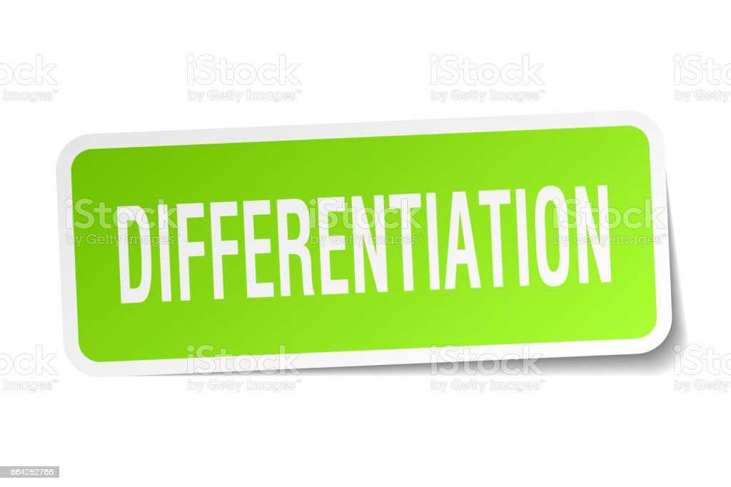 differentiation square sticker on white royalty-free differentiation square sticker on white stock vector art & more images of badge