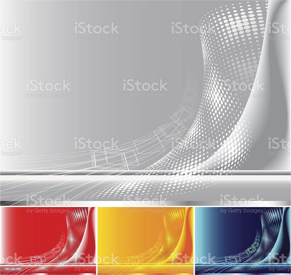Differently colored abstract backgrounds vector art illustration