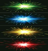 Vector illustration four color  abstract exploding banner