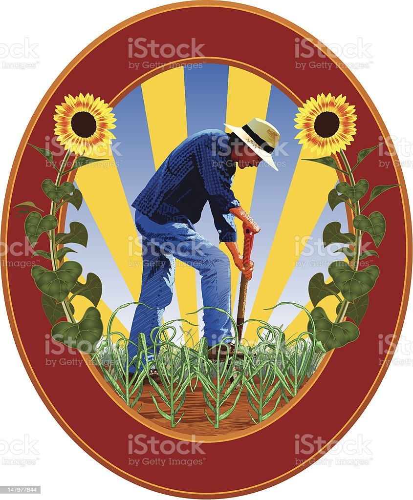 Dig Gardening royalty-free stock vector art