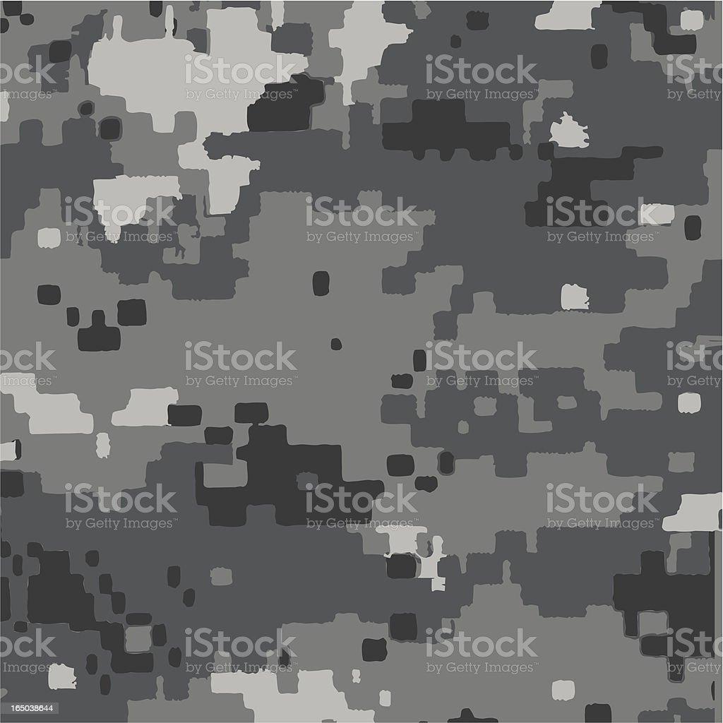 Digi Gray Camouflage Pattern royalty-free stock vector art