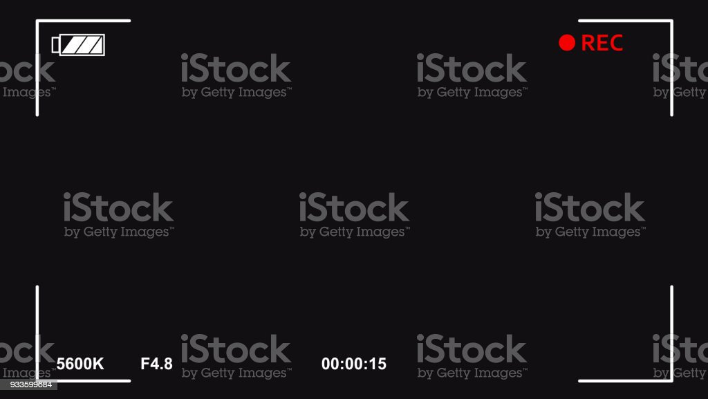 Digital 4K camera video viewfinder royalty-free digital 4k camera video viewfinder stock illustration - download image now