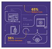 Vector Infographic Line Design Elements for Digital Age