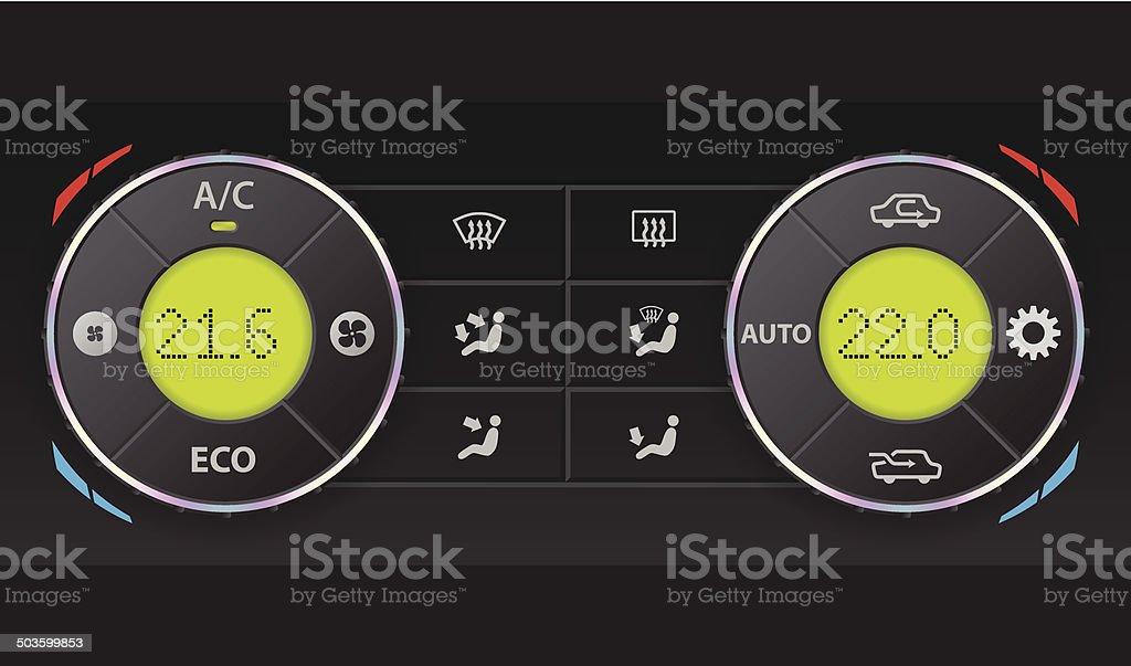 Digital air condition dashboard royalty-free stock vector art