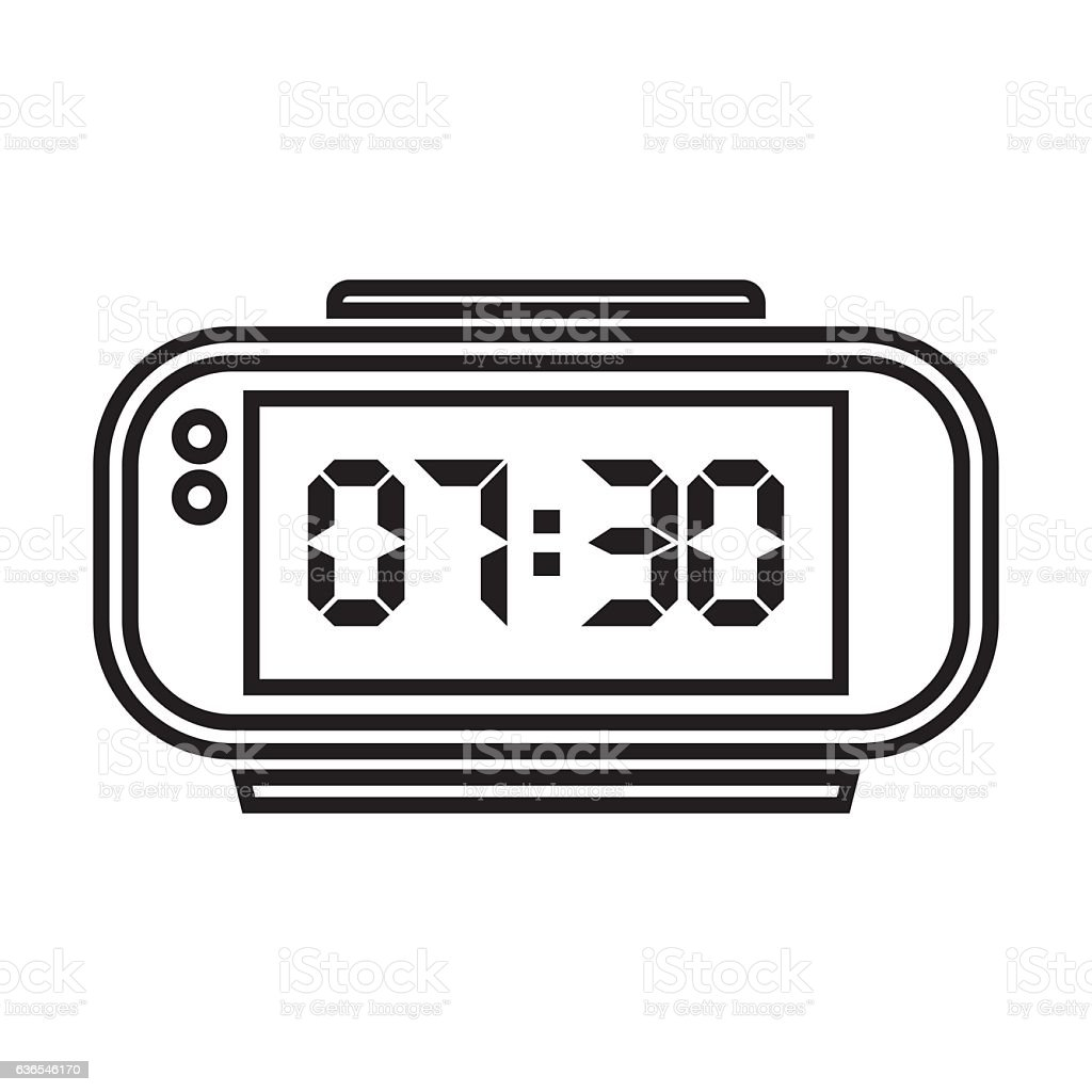 digital alarm clock stock vector art more images of business rh istockphoto com