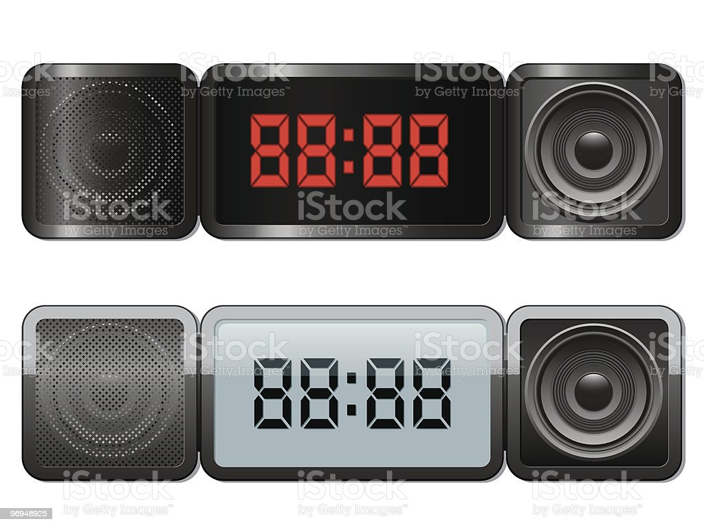 Digital alarm clock with speakers royalty-free digital alarm clock with speakers stock vector art & more images of alarm clock
