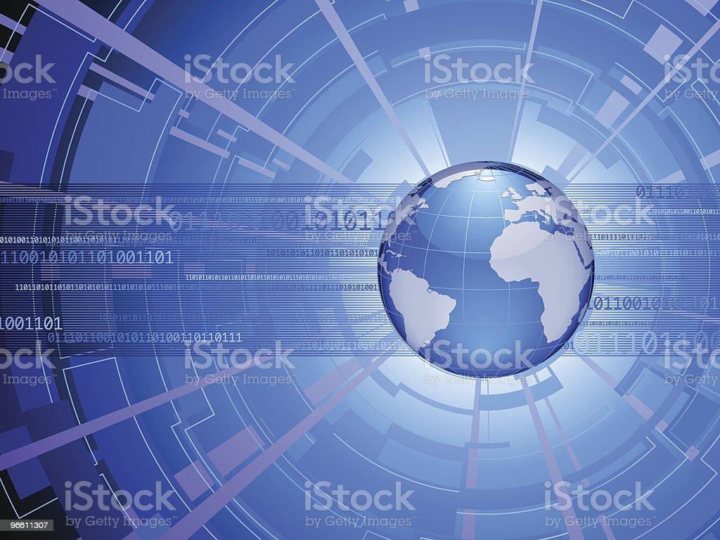 digital america/europe - Royalty-free Binary Code stock vector