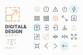 Digital and Design icon set 4