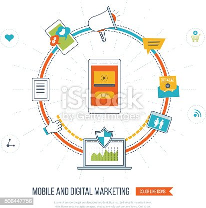 812948018istockphoto Digital and mobile marketing concept. Social network. 506447756