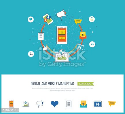 812948018istockphoto Digital and mobile marketing concept. Social network. 515485110