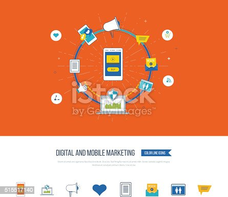 812948018istockphoto Digital and mobile marketing concept. Social network. 515517140