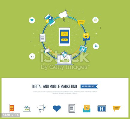 812948018istockphoto Digital and mobile marketing concept. Social network. 515517220