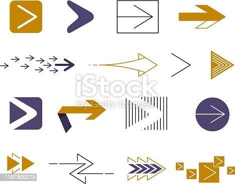 arrow design element icon set