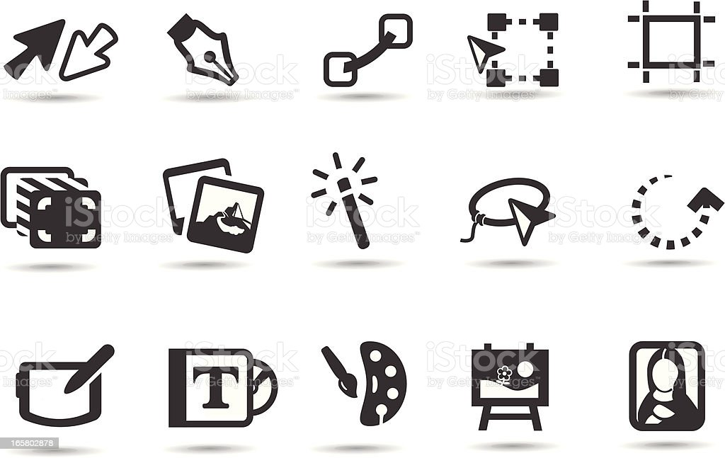 Digital Art Icons royalty-free digital art icons stock vector art & more images of application form