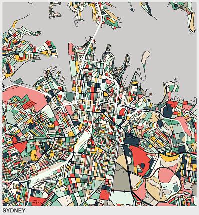 digital art map background,Sydney city