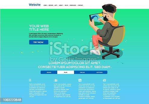 istock Digital Artist website template 1063220848