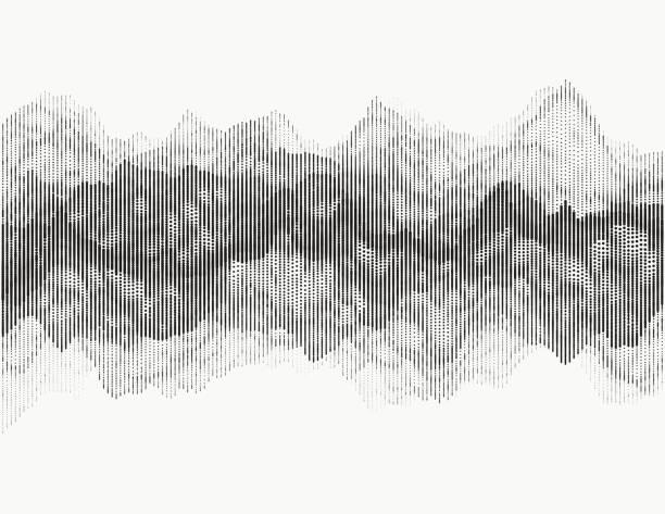 digital audio visualization - sine wave stock illustrations
